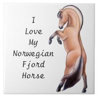Norwegian Fjord Horse Customizable  Tile