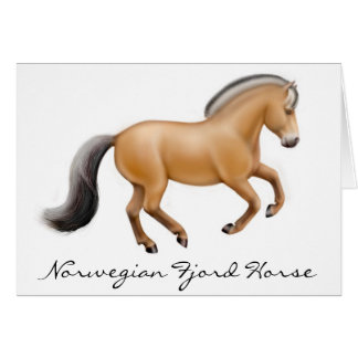 Norwegian Fjord Horse Greeting Card