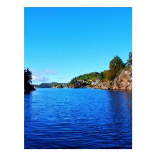 Norwegian fjords postcard
