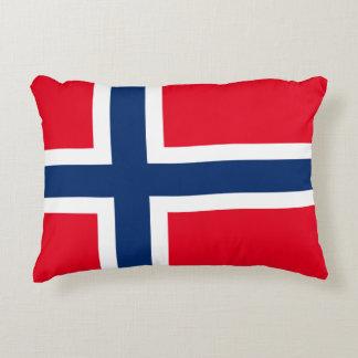 Norwegian flag accent pillow