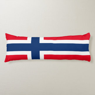 Norwegian flag body pillow