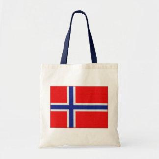Norwegian Flag Budget Tote Bag