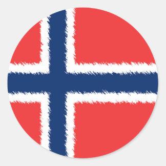 Norwegian Flag Classic Round Sticker