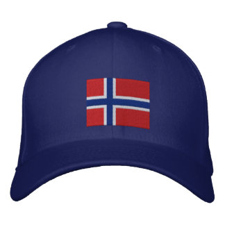 Norwegian Flag Embroidered Hat