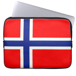 Norwegian Flag Laptop Sleeve