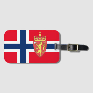 Norwegian flag luggage tag
