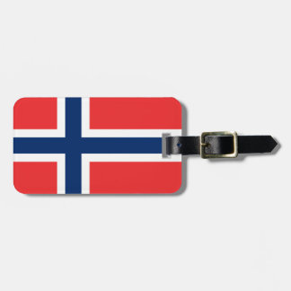 Norwegian flag luggage tags for bags and suitcases