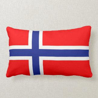 Norwegian Flag Lumbar Pillow