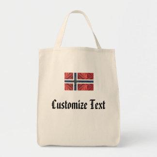 Norwegian Flag Norway Nordic Scandinavian Cross No Tote Bag