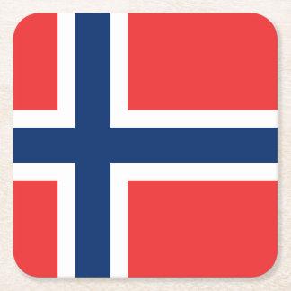 Norwegian flag of Norway paper drink coasters