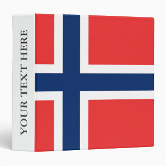 Norwegian flag of Norway Scandinavian pride 3 Ring Binder