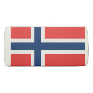 Norwegian flag of Norway Scandinavian pride Eraser
