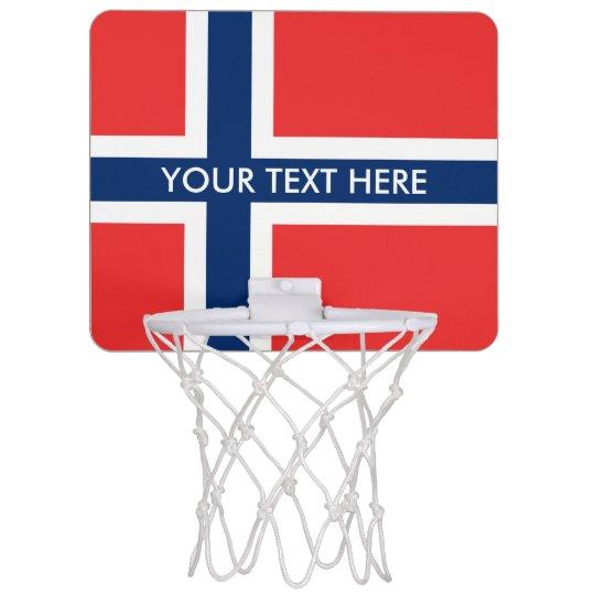 Norwegian flag of Norway Scandinavian pride Mini Basketball Hoop