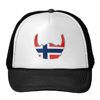 Norwegian flag of Norway viking helmet Trucker Hat