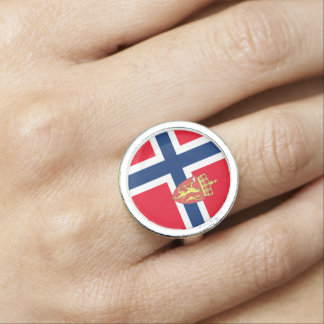 Norwegian flag photo ring