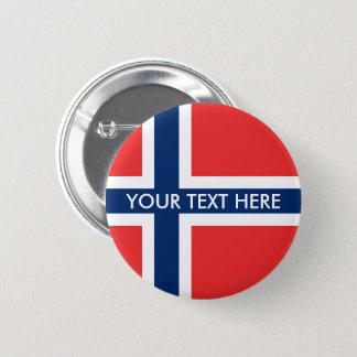 Norwegian flag pinback buttons