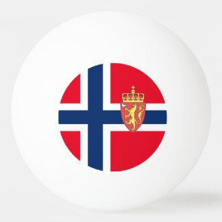 Norwegian flag ping pong ball