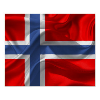 Norwegian flag poster