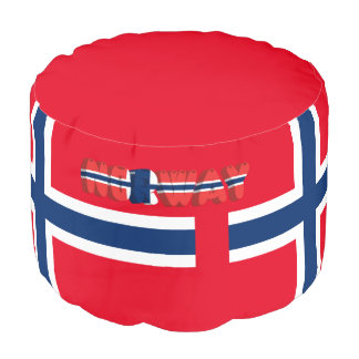 Norwegian flag pouf