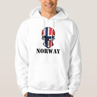 Norwegian Flag Skull Norway Hoodie