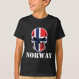 Norwegian Flag Skull Norway T-Shirt