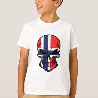 Norwegian Flag Skull T-Shirt