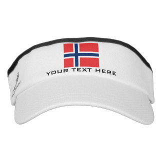 Norwegian flag sports sun visor cap hat