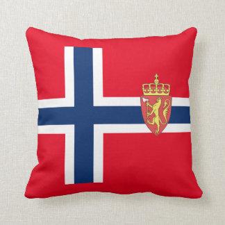 Norwegian flag throw pillow
