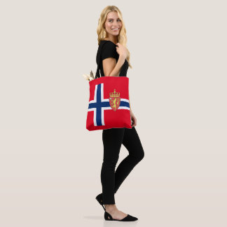 Norwegian flag tote bag
