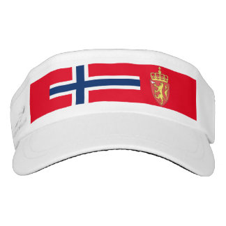 Norwegian flag visor