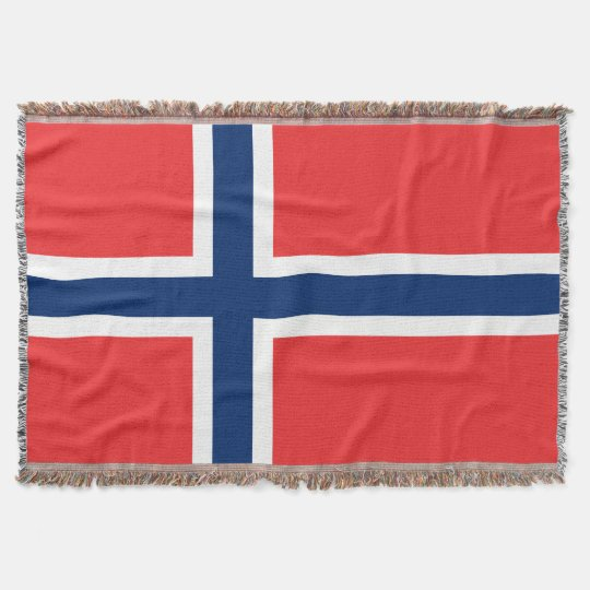 Norwegian flag woven throw blanket | Norway pride