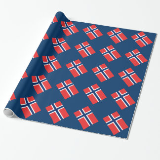 Norwegian flag wrapping paper | Norway gift wrap