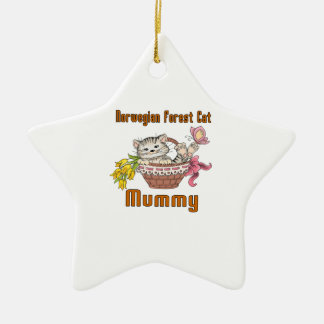 Norwegian Forest Cat Cat Mom Ceramic Ornament