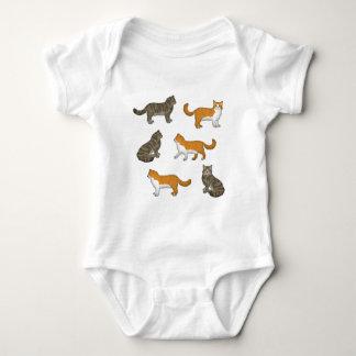 Norwegian forest cat selection baby bodysuit