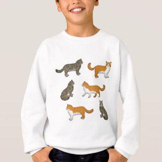 Norwegian forest cat selection sweatshirt