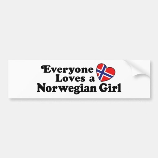 Norwegian Girl Bumper Sticker
