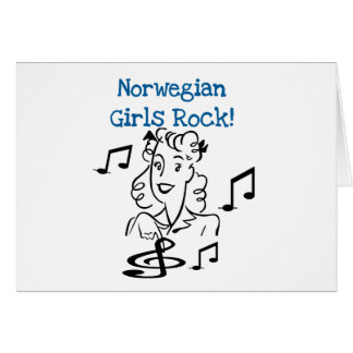 Norwegian Girls Rock Card