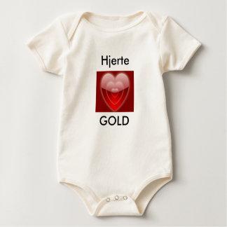 NORWEGIAN HEART OF GOLD BABY STARTER BABY BODYSUIT