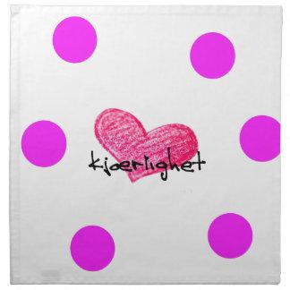 Norwegian Language of Love Design Napkin