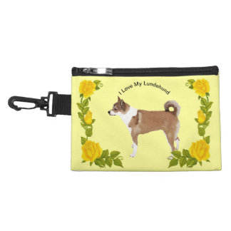 Norwegian Lundehund and Yellow Roses Accessory Bag