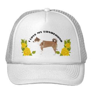 Norwegian Lundehund and Yellow Roses Trucker Hat