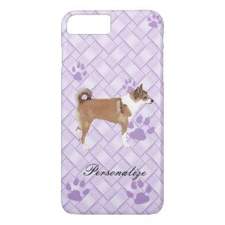 Norwegian Lundehund on Lavender Weave w/pawprints iPhone 8 Plus/7 Plus Case