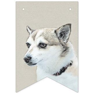 Norwegian Lundehund Painting - Original Dog Art Bunting Flags