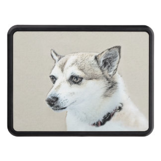 Norwegian Lundehund Painting - Original Dog Art Trailer Hitch Cover