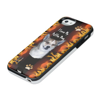 Norwegian Lundehund [puffin dog] on Fire iPhone SE/5/5s Battery Case