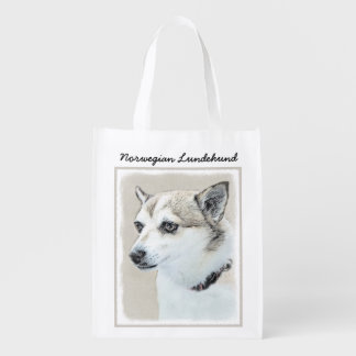 Norwegian Lundehund Reusable Grocery Bag