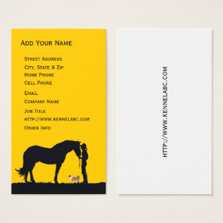 Norwegian Lundehund Western Silhouette Business Card