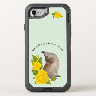 Norwegian Lundehund, with Yellow Roses on Green OtterBox Defender iPhone 8/7 Case