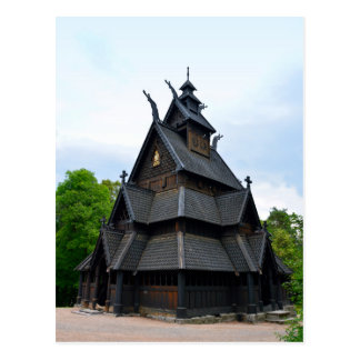 Norwegian Medieval Stave Church Postcard
