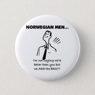 Norwegian Men Are The Best 2 Inch Round Button
